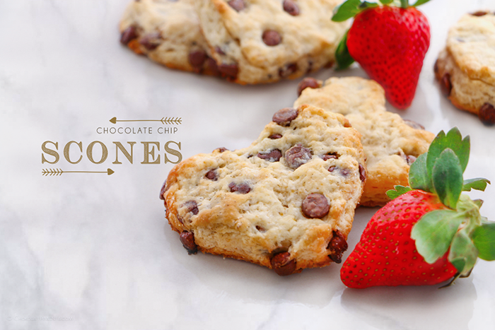 Scones con chispas de Chocolate