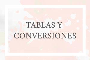 tablas y conversiones