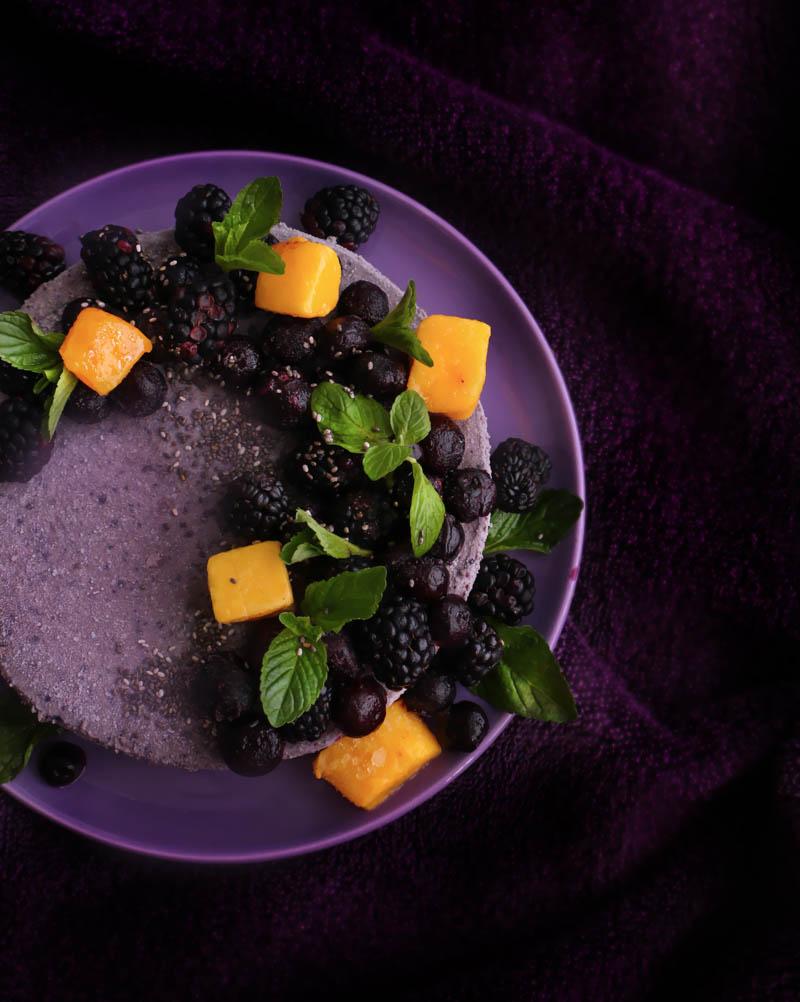 blueberry cheesecake vegano sin horno