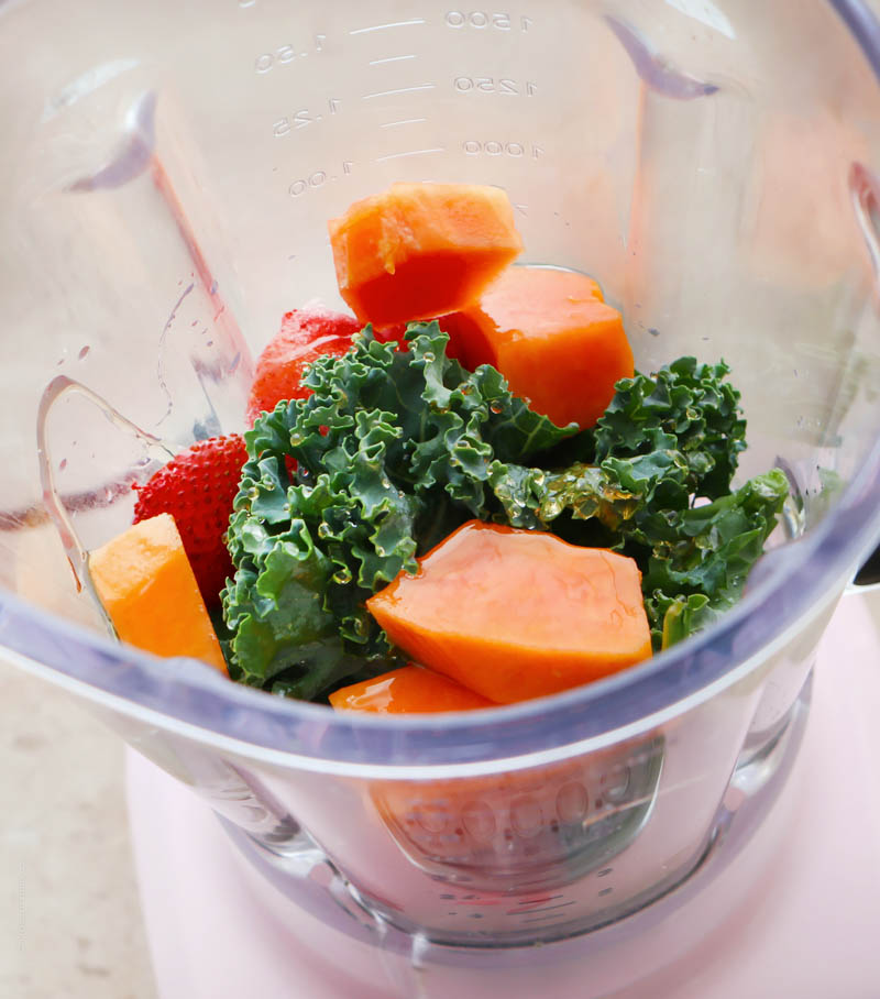 smoothie energizante de papaya