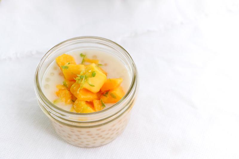 Pudding de tapioca y mango