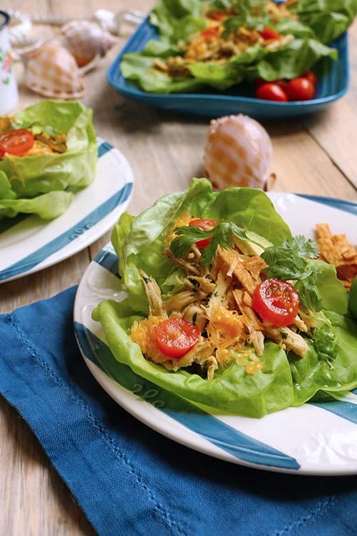 Wraps de Lechuga (tacos de pollo)