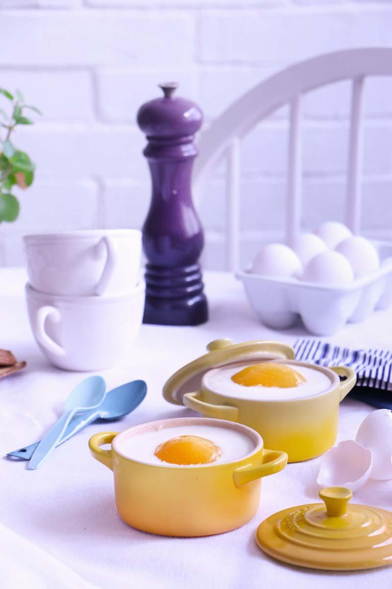 pastel de huevos fritos