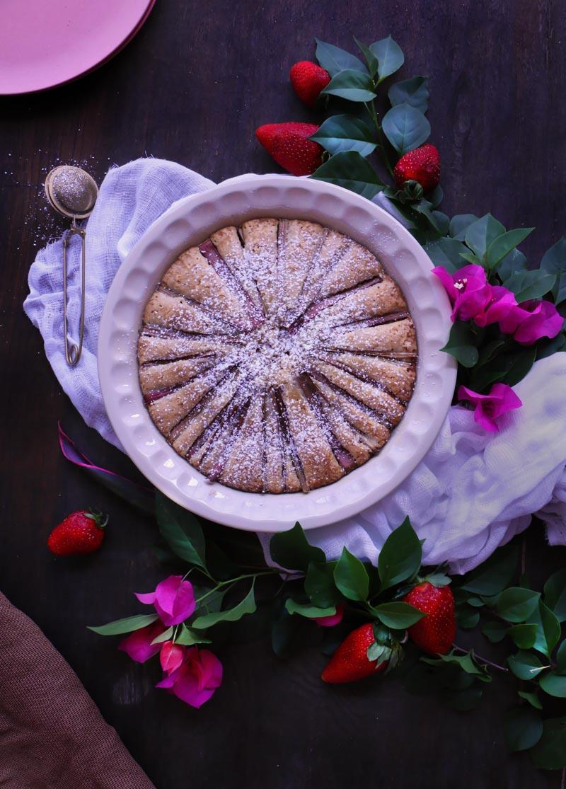pastel de ruibarbo