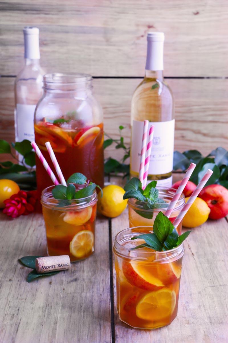 Facil coctel de vino y te de duraznos |Chokolatpimienta.com