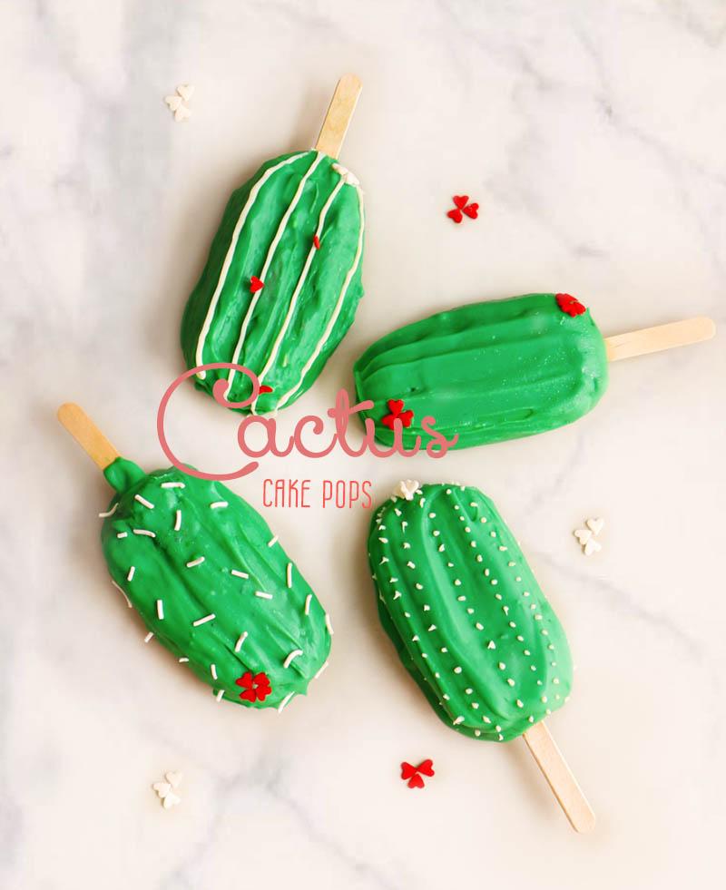 Cactus cake pops |Chokolatpimienta.com