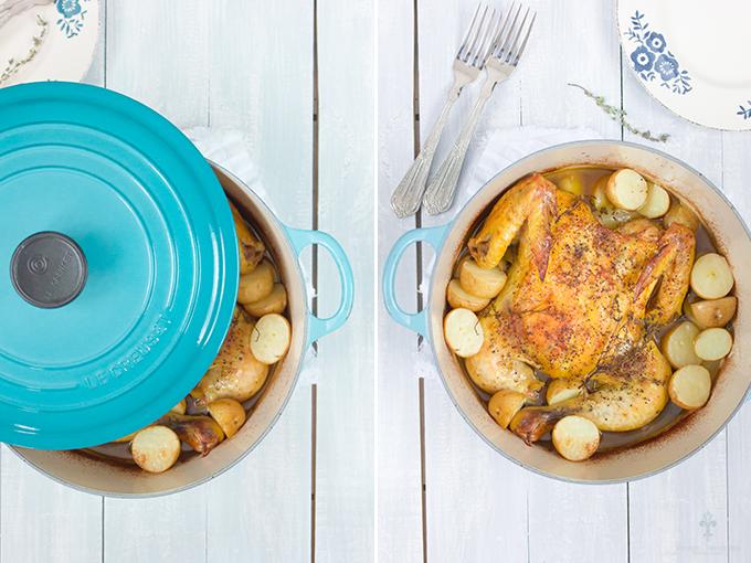 Pollo al horno con tomillo | chokolat pimienta