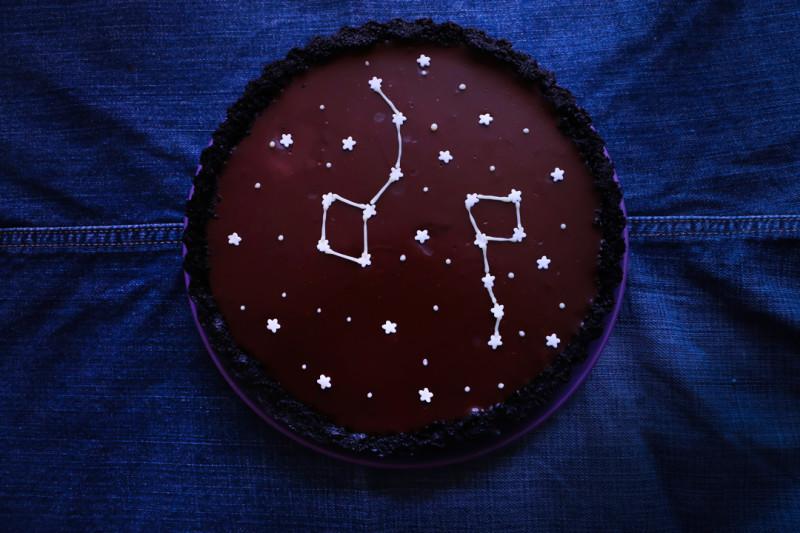 tarta cosmica de chocolate 1 |Chokolat Pimienta
