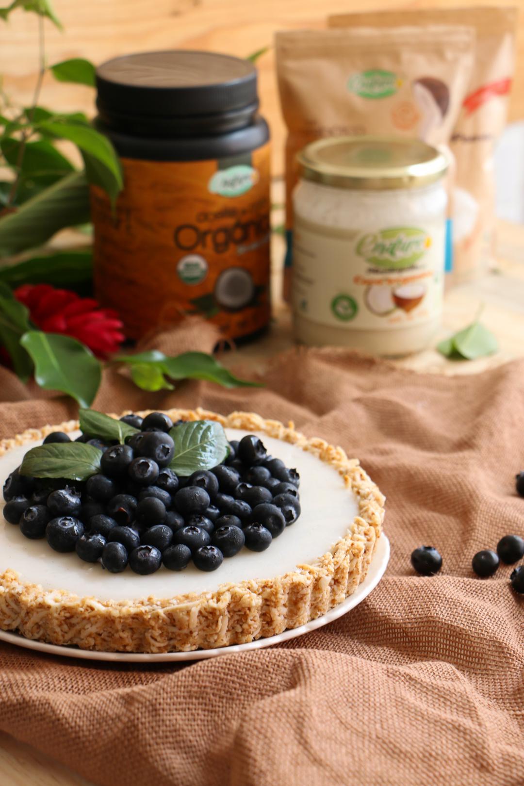 tarta vegana de coco y Blueberries |chokolatpimienta.com
