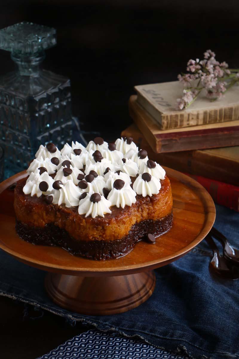 pastel imposible o chocoflan 2|chokolatpimienta.com
