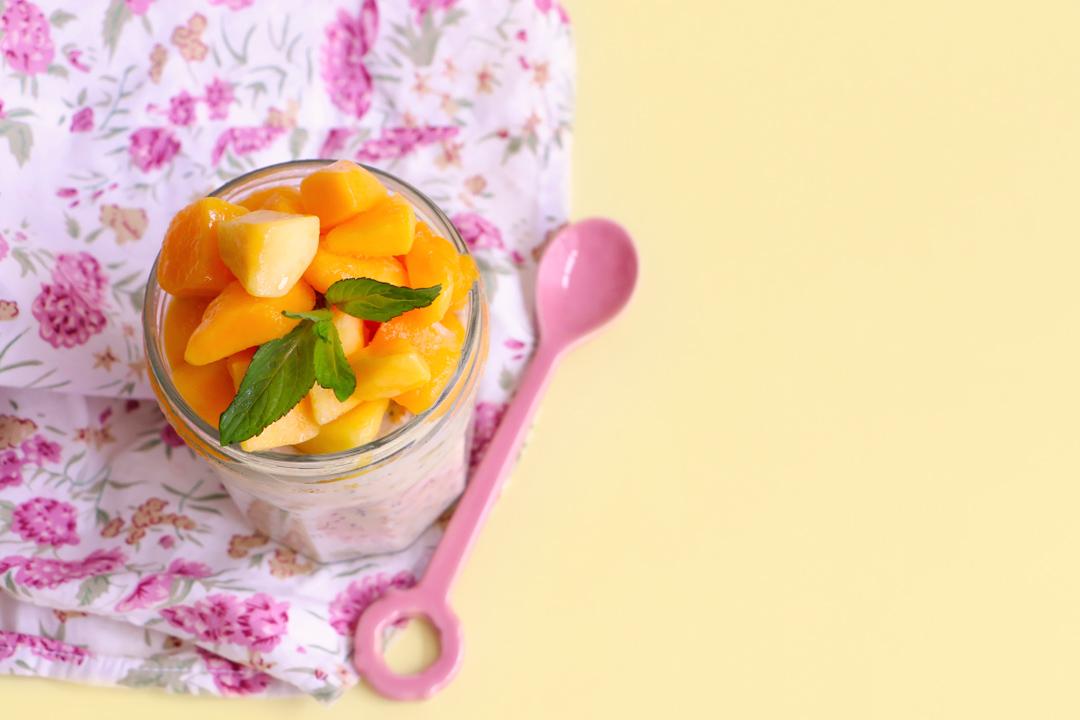 pudding de avena y mango|chokolatpimienta.com