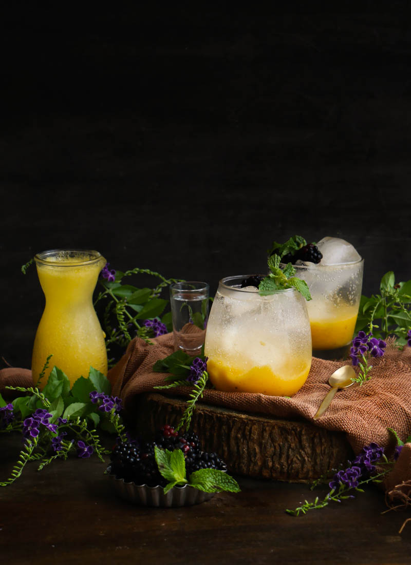 Mango vodka coctel|chokolatpimienta.com