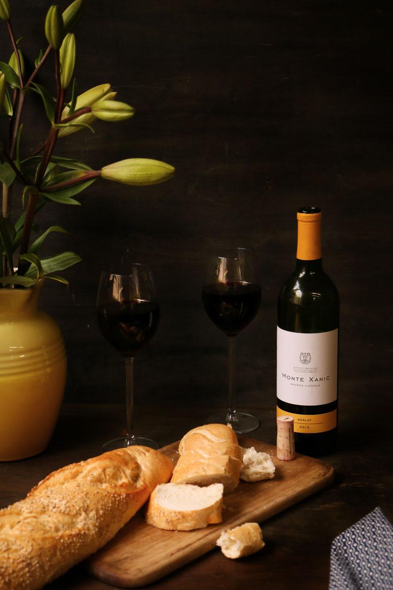 lasaña de carne con vino tinto