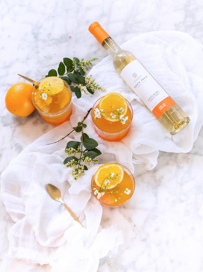 Gelatina de vino blanco y citricos