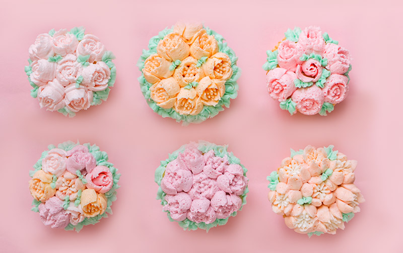 decoración de cupcakes boquillas rusas chokolat pimienta