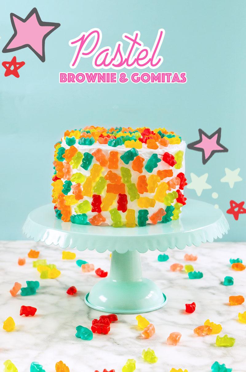 pastel de brownies y panditas