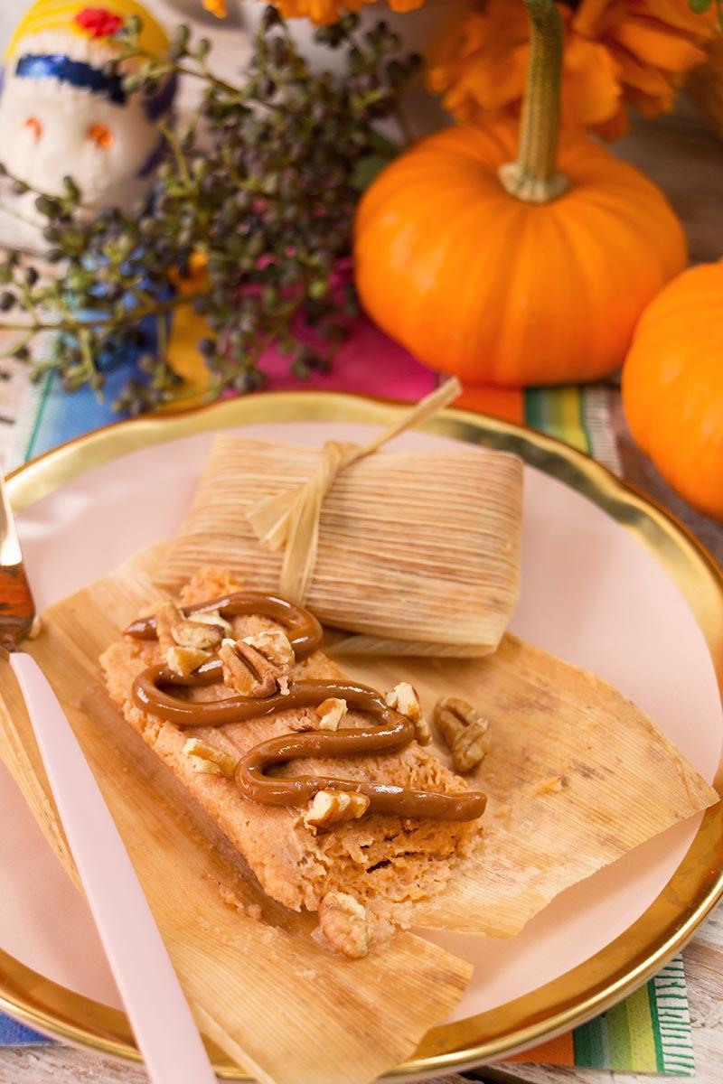 Tamales de calabazas Chokolat Pimienta