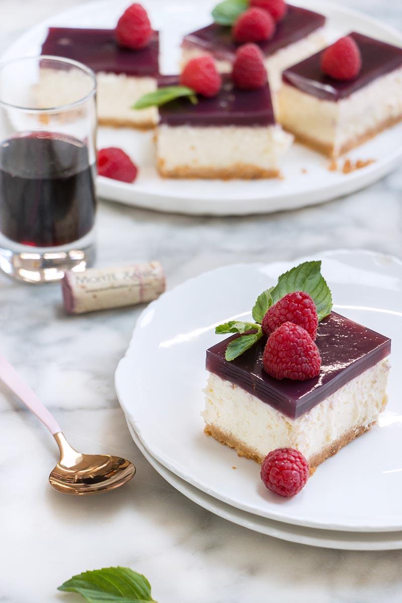 cheesecake de vino tinto